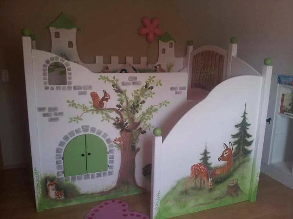 Kinderbett-Waldhaus